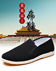 Martial Art Kung Fu Ninja Chinese Shoes Slip On RUBBER Sole Canvas Slippers Z-88