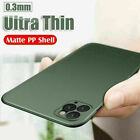 For iPhone 11 12 Pro MAX XS 8 7 SE 2 Ultra-thin Slim Matte Hard Clear Case Cover