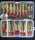 Spoon Fishing Metal Lure Vintage Lures Lot 4 Box 2 Spoons 3 Unmarked Eppinger