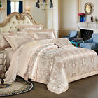 Bedding set 4 Pcs Upscale Satin jacquard cotton duvet cover bed sheet pillowcase