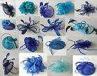 ROYAL NAVY BLUE FASCINATORS Teal Turqoise Wedding Hair Ascot Hat Hatinator lot