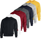 Men Women Sweatshirt Crew Neck Plain Design Cotton Jumper Fleece Sport Casual