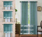 2PC HOME DECOR VOILE SHEER WINDOW ROD POCKET CURTAIN TREATMENT PANEL TEAL