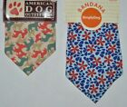 SimplyDog Dog Outfitters Bandana, Camouflage Dogs or Floral Raindrops