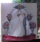 4 Sets Tattered Lace Wedding Flectere Die Cuts 250gsm10 Colours/White Topper