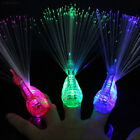 8B7A Finger Light Up Ring LED Party Favors Glow Decor Peacoc