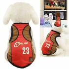 Pet Puppy Cavaliers Basketball Jersey Home Party Dog Custome