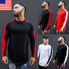 Mens Casual Long Sleeve T-Shirt Loose O Neck Plain Tops Blouse Shirts Tee M-XXL image