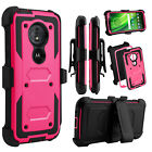 For Motorola Moto G6 Play/Forge Phone Case Hybrid Clip Holster Stand Armor Cover