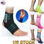 Compression Sports Ankle Foot Support Protection Wrap Gym Brace Protector Black $7.29 USD on eBay