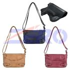 VISM Leather Concealed Carry Gun Purse CCW Crossbody Shoulder Strap Bag Holster