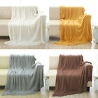 "100% Acrylic Knitted Throw Blanket Soft Couch Bed Warm Solid Plain Decor 50""x60"" image"