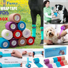 Elastic Pet Vet Dog Cat Wrap Wound Cohesive Bandage Self Adherent Tape First Aid