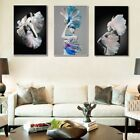 Modern Fashion Lady Flower Wall Picture Art Canvas Painting Poster Home Decor