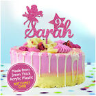 PERSONALISED Birthday Cake Topper FAIRY Any Name and Any Age Party Decorations