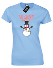 CAN YOU HELP WITH MY CARROT? LADIES T-SHIRT CHRISTMAS JUMPER NOVELTY XMAS SANTA