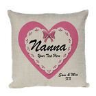 Personalised For Nanna Natural Cushion Cover+ Optional Pad. Your Details Added