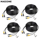 4 X 50ft/100ft/150ft CCTV Security Camera Power Cable Video Monitor Wire RCA BNC