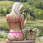 DISCONTINUED Wicked Weasel Sexy 677 Secret Garden Panties Fuchsia