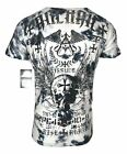ARCHAIC by AFFLICTION Mens T Shirt BLACK PRAYER Cross Wings MMA Biker UFC 40