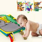 Toys  Early Learning Vegetable Cognition Animals Tails Baby Cloth Book