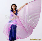 USA!Belly Dance worship cosplay parade prop Isis Wings WITH expandable Sticks