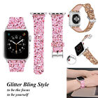 For Apple Watch Band iWatch Leather Glitter Wrist Strap Bling Series 4 40/44mm image