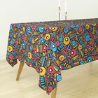 Tablecloth Geometric Shapes Abstract Mod Retro Modern Jumbo Cotton Sateen