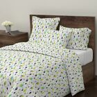 Diamond 50S Retro Starburst Mid Century Modern Sateen Duvet Cover by Roostery