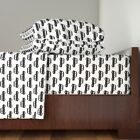 Boy Retro Cab Car Black And White 100% Cotton Sateen Sheet Set by Roostery