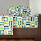 Mid Century Modern Abstract Tribal 100% Cotton Sateen Sheet Set by Roostery