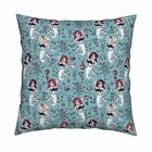 Vintage Mermaid Retro Mermaid Throw Pillow Cover w Optional Insert by Roostery