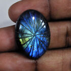 NICE!! Natural Multi Fire Labradortie Oval Carving Gemstone Free Shipping TS863
