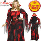 CA804 Countessa Goth Vampire Vamp Dracula Halloween Horror Plus Dress Up Costume