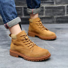 Mens Ankle Martin Boots Leather New Suede Casual Military Work Shoes Anti skid