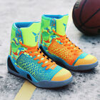 Mens Basketball Shoes Shock Absorbing Athletic Comfy Outdoor Sneakers High Top