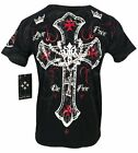 XTREME COUTURE by AFFLICTION Men T-Shirt GLORIOUS Tattoo Biker MMA GYM S-5X $40 image