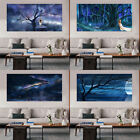 30-100CM Rectangle Moon Stars Sky Oil Painting Wall Art Decor Canvas Unframed