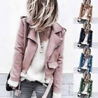 Sexy Womens Long Sleeve Leather Jacket Coat Biker Blazer Short Parka Casual Tops