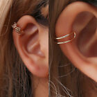 1PC Ear Cuff Clip On Earrings Fake Cartilage Earrings Non-Piercing for Women Men image
