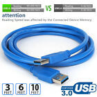 USB 3.0 Cable A Male to A Male Type High Quality Super Speed Cord - 3ft 6ft 10ft