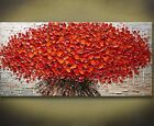 Unframed Thick Textured Modern Hand Painted Palette Knife Canvas Oil Painting