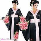 Ladies Womens Oriental Geisha Girl Fancy Dress Costume Japanese Outfit New