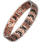 Men Magnetic Bracelets Red Copper Arthritis Therapy Health Care Bracelets