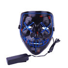 Halloween Scary Mask LED Costume Mask EL Wire Light Up The Purge Movie Hot