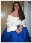 White or Natural 56 inch Cotton Chemise SCA LARP Renaissance Faire Pennsic