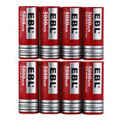EBL 5000mAh 26650 Li-ion Rechargeable Batteries + Charger For 18650 26650 AA AAA