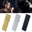Fingerprint Touch USB Rechargeable Dual Arc Flameless Plasma Electric Lighter E&