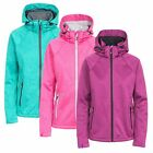 Trespass Angela Women's Windproof Softshell Jacket in Pink Green and Purple