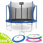 15 FT Trampoline Combo Bounce Jump Safety Enclosure Net W/Spring Pad Ladder New image
